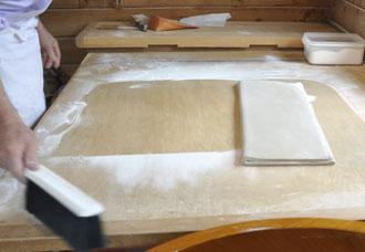 手打ちそばの作り方8:畳み